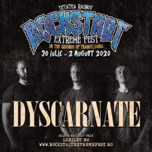 Dyscarnate pe scena Rockstadt Extreme Fest 2020