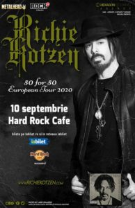 richie kotzen hard rock 10 septembrie