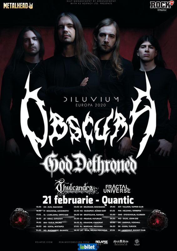 obscura god dethroned bucuresti