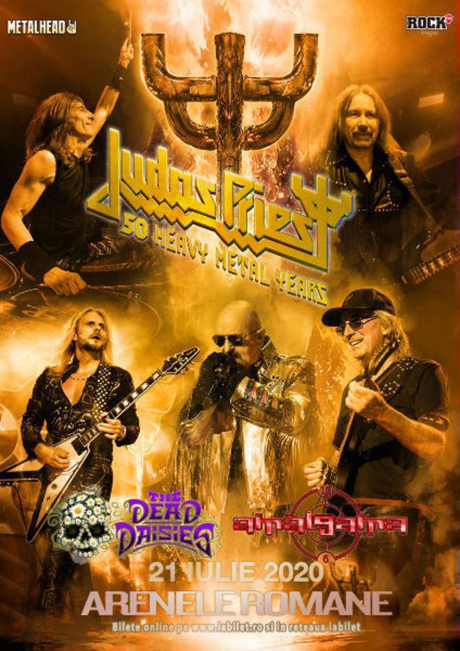 Judas Priest Arenele Romane The dead daisies Amalgama