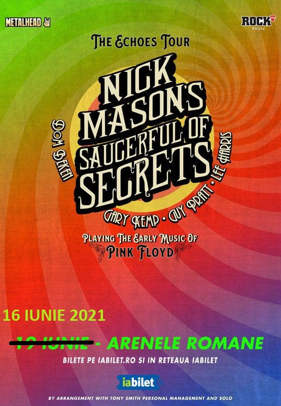 Nick Mason's Saucerful Of Secrets de la Bucuresti