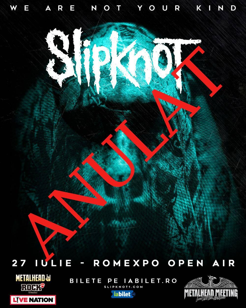 Concertul Slipknot de la Bucuresti este anulat!