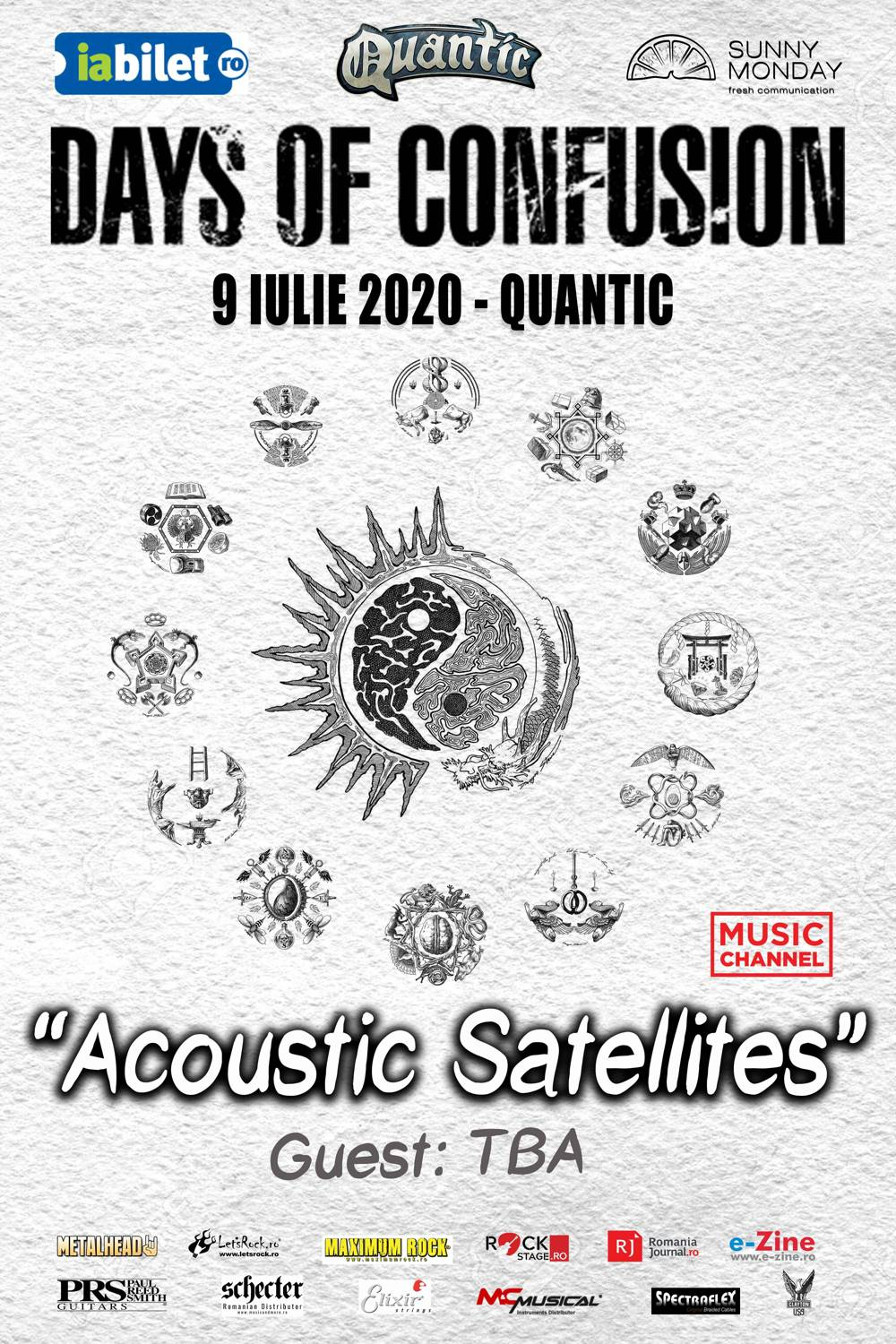 """ACOUSTIC SATELLITES"", CONCERT DAYS OF CONFUSION, PE 9 IULIE, IN QUANTIC CLUB"