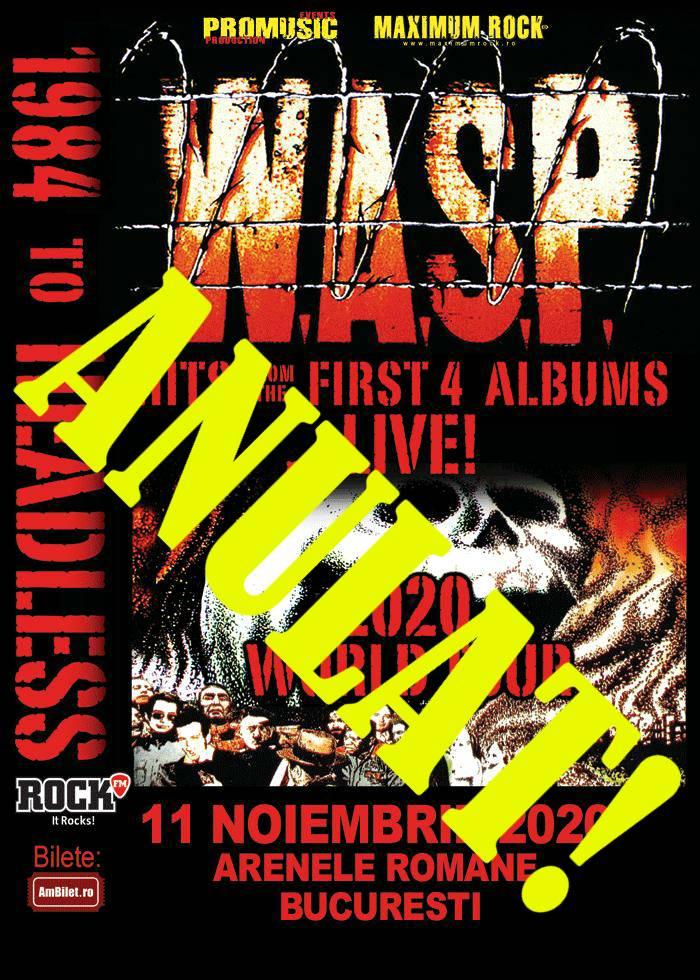 Concertul W.A.S.P. de la Bucuresti a fost anulat!