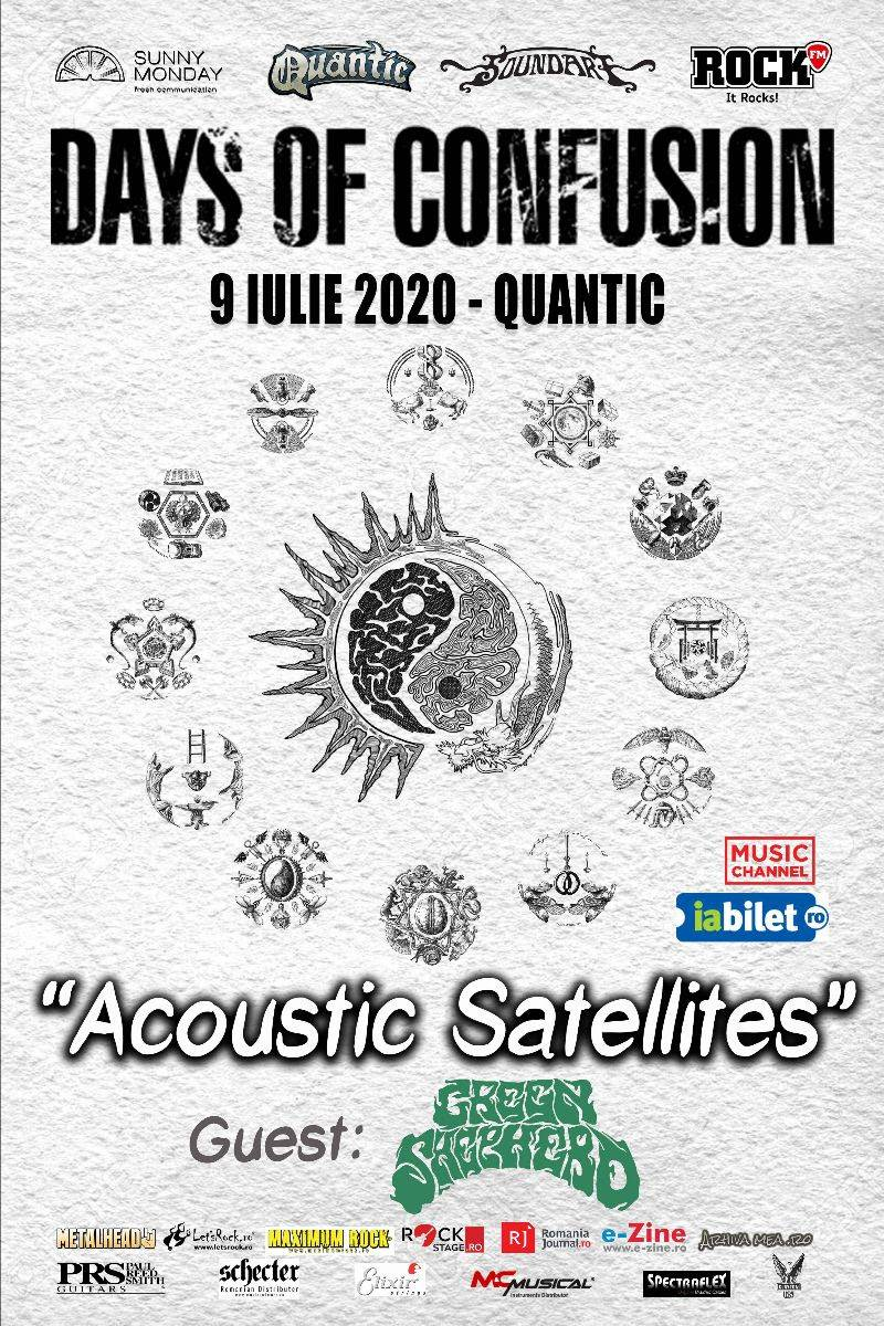 "GREEN SHEPHERD CANTA IN DESCHIDEREA CONCERTULUI DAYS OF CONFUSION, ""ACOUSTIC SATELLITES"""