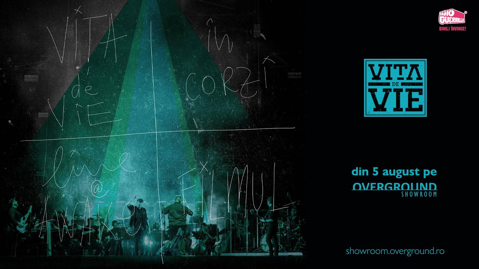 """Concertul Vița de Vie – """"În Corzi"""" live @ Awake va avea avanpremiera în cadrul TIFF, pe 4 august, și ulterior va fi disponibil pentru streaming on demand"""