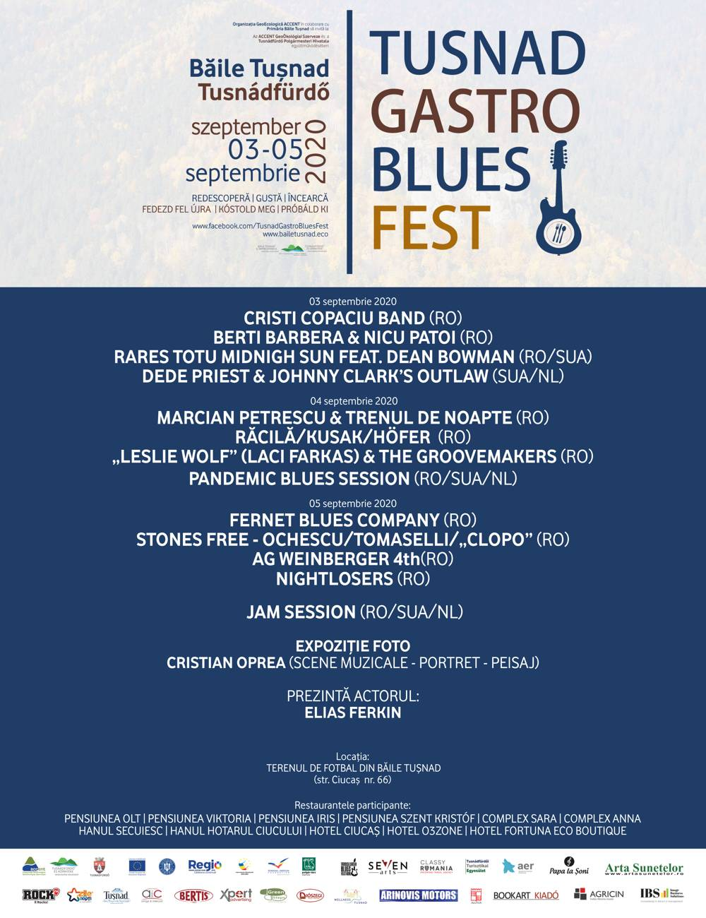 TUȘNADGASTRO BLUES FEST, 3-5 Septembrie 2020 - Program si detalii