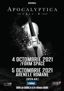 Apocalyptica: Doua concerte in Romania in 2021