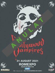 Concertul The Hollywood Vampires s-a anulat!