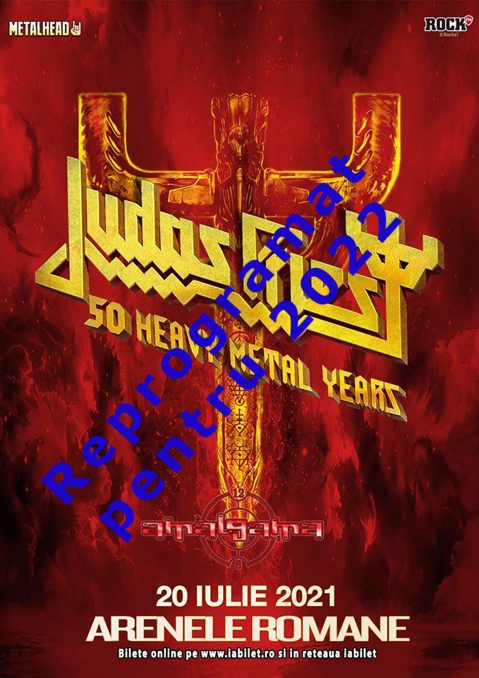 Concertul Judas Priest de la Bucuresti se amana pentru 2022!
