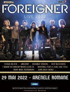 Supergrupul american Foreigner in concert la Arenele Romane