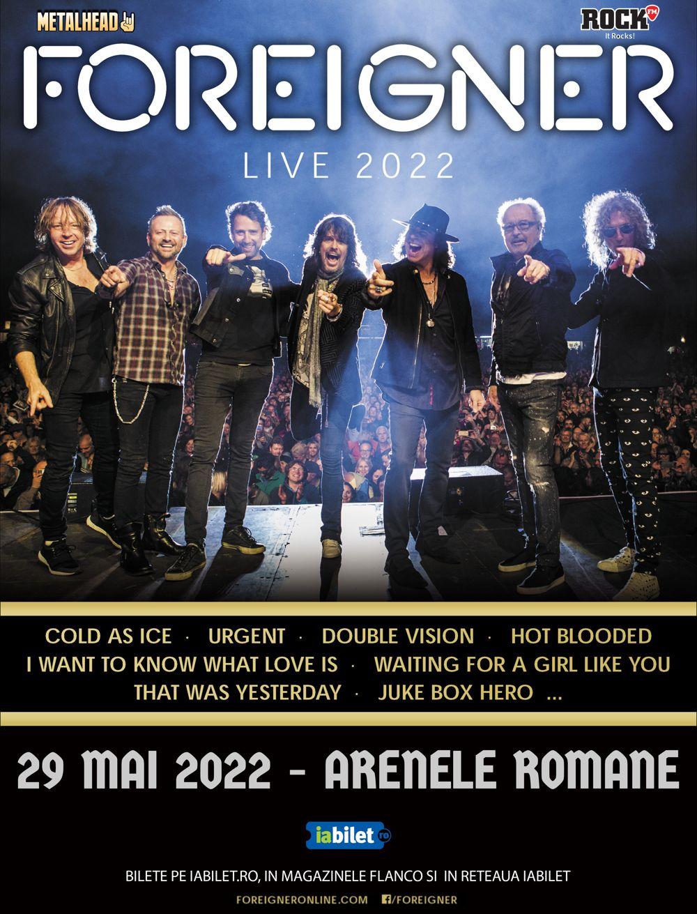 Foreigner - Live in Bucuresti 2022
