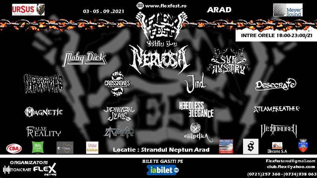 Flex Festival are loc in acest weekend la Arad cu Nervosa, Moby Dick si Sur Austru